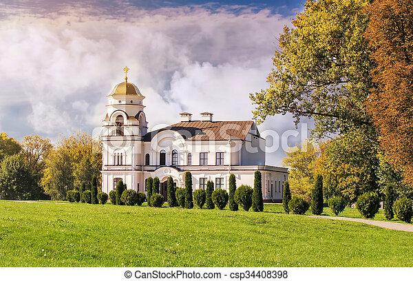 El campanario de la iglesia ortodoxa. - csp34408398