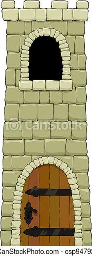 torre, cartone animato - csp9479239