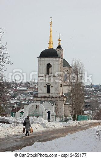 El campanario de la catedral. - csp13453177