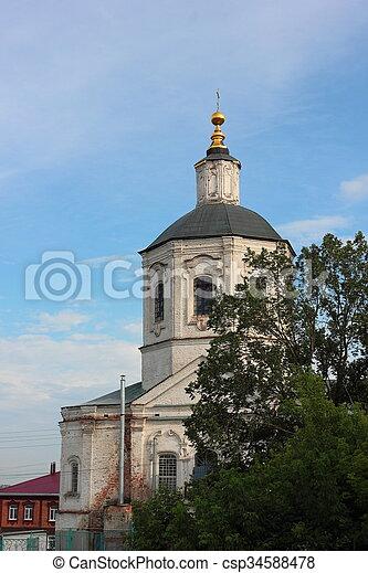 El campanario de la catedral. - csp34588478