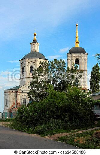 El campanario de la catedral. - csp34588486