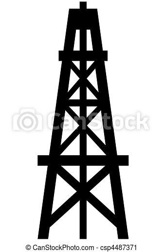 Derrick de petróleo - csp4487371