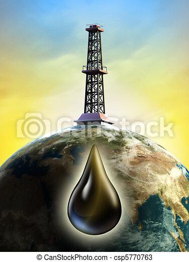 Derrick de petróleo - csp5770763