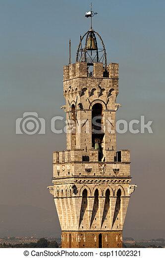 Torre del Mangia in Siena, Italy - csp11002321