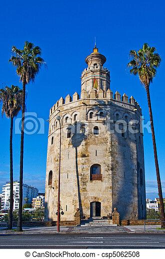 Torre del Oro, in Seville, Spain - csp5062508