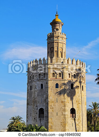 Torre del Oro in Seville, Spain - csp16949392