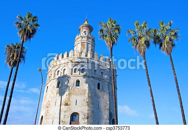 Torre del Oro, Seville - csp3753773