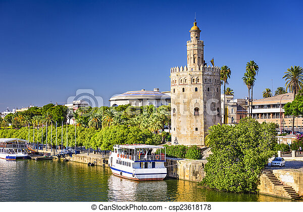 Torre del Oro Tower of Seville - csp23618178