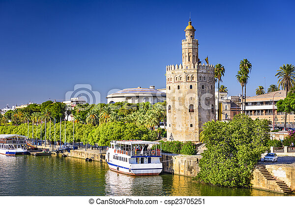 Torre del Oro Tower of Seville - csp23705251