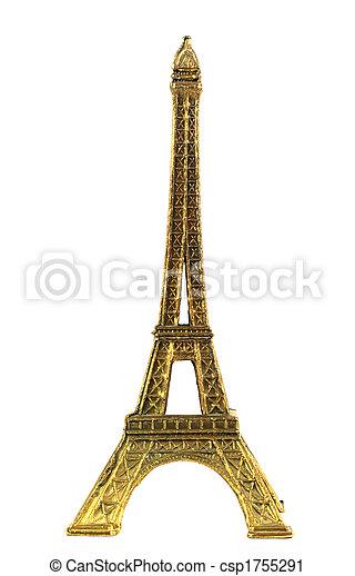 torre, eiffel, minature - csp1755291