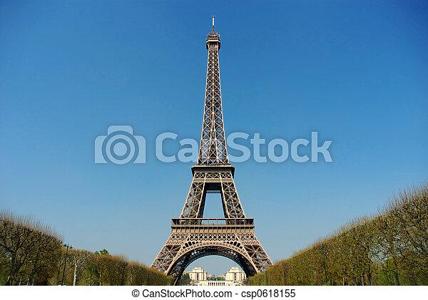 torre, eiffel, parís - csp0618155