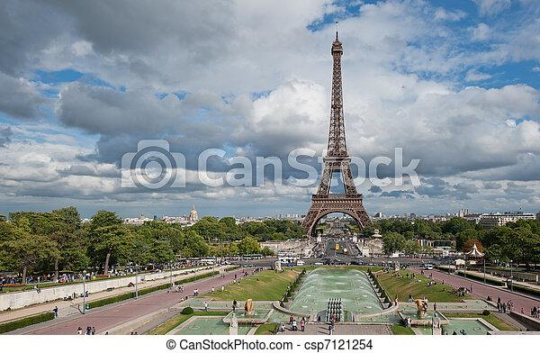 torre, eiffel, parís, francia - csp7121254
