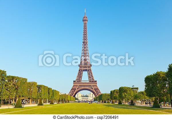 torre, eiffel, paris, frança - csp7206491