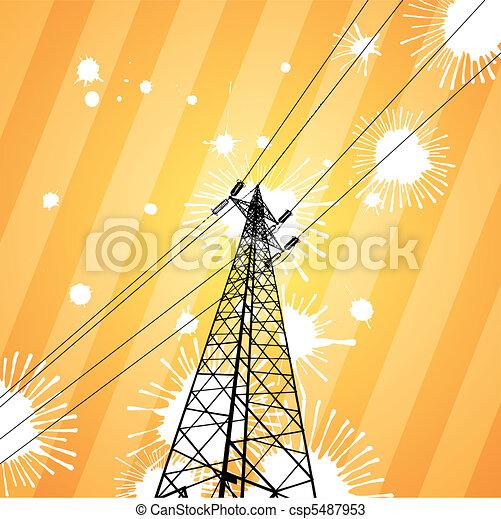 Pilón de electricidad - csp5487953