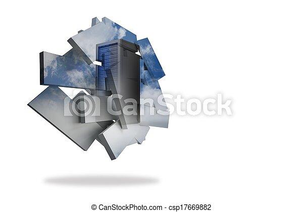 Torre de servicio en pantalla abstracta - csp17669882