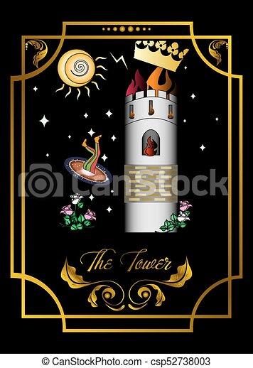 La tarjeta de la torre - csp52738003