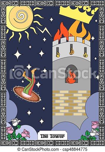La tarjeta de la torre - csp48844775