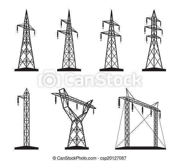 torre transmissão, elétrico, tipos - csp20127087