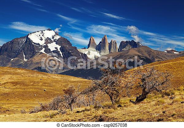 Torres del dolor, patagonia, chile - csp9257038