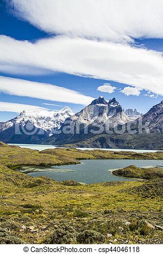 Torres del Paine National Park - csp44046118