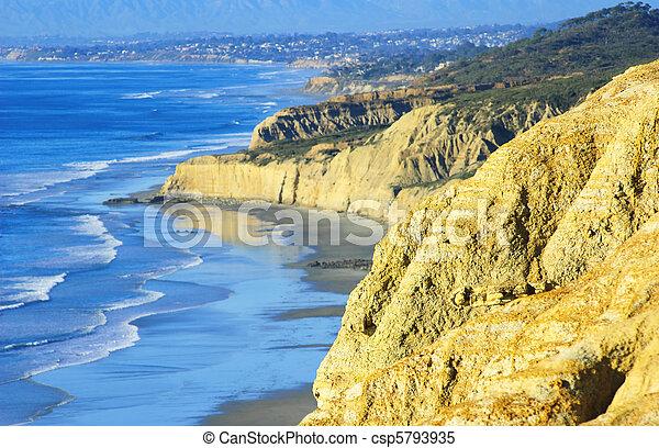 Torrey Pines Beach (Southern California, USA) - csp5793935