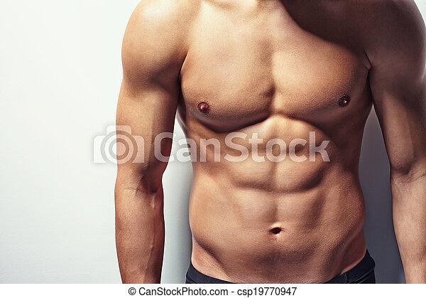 torso, jovem, muscular, homem - csp19770947