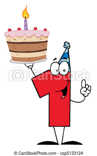 torta, compleanno, numero - csp5133124