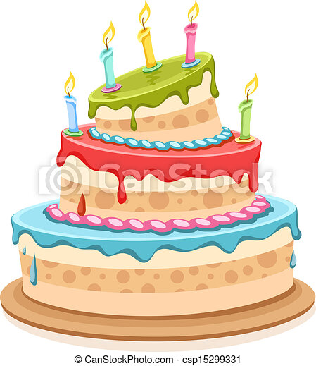 torta, dolce, candele compleanno - csp15299331