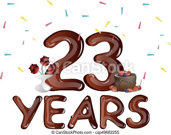 Anniversario Matrimonio 23 Anni.Torta Felice Anni Anniversario 23 23 Anniversario