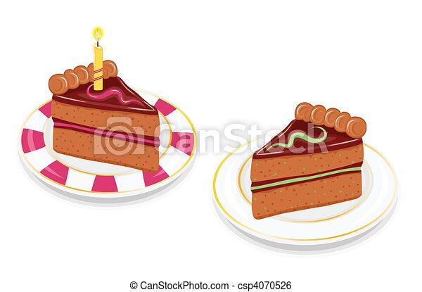 Torta Fette Festivo Cioccolato Fette Festivo Isolato