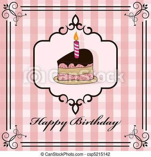 torta, születésnap - csp5215142