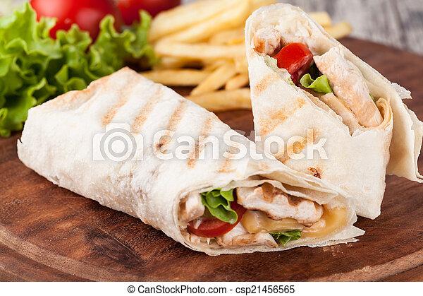 tortilla, 包みなさい, fajita - csp21456565