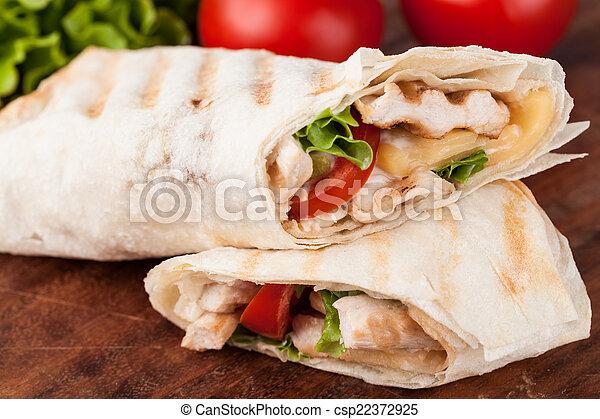 tortilla, 包みなさい, fajita - csp22372925