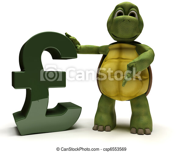 Tortoise with pound sign - csp6553569
