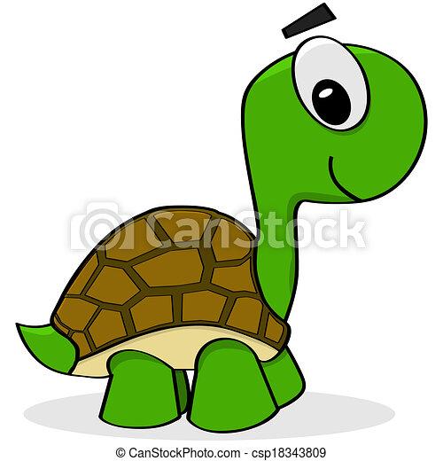 Tortue dessin anim illustration csp18343809 - Clipart tortue ...