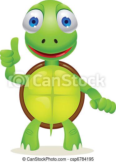 Tortue dessin anim tortue rigolote vecteur dessin - Tortue rigolote ...