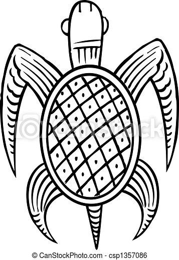 Tortuga étnica - csp1357086