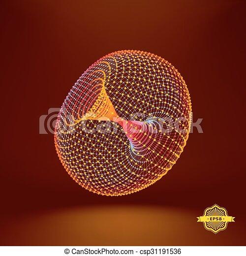 Torus. Connection Structure. Vector 3D Illustration. - csp31191536
