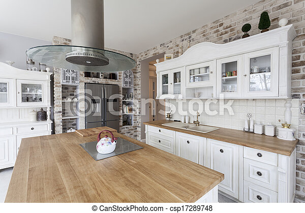 toscana, cucina, -, mensole - csp17289748