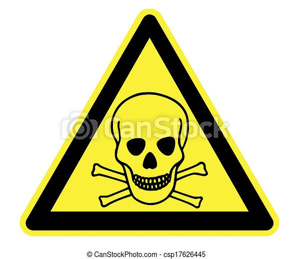 tossico, triangolo avvertimento, giallo - csp17626445