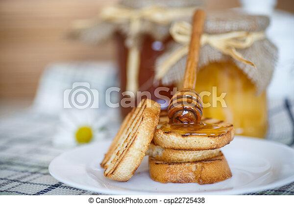 Tostadas con miel - csp22725438
