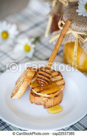 Tostadas con miel - csp22537385