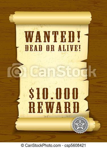 Poster wollte tot oder lebendig sein - csp5608421