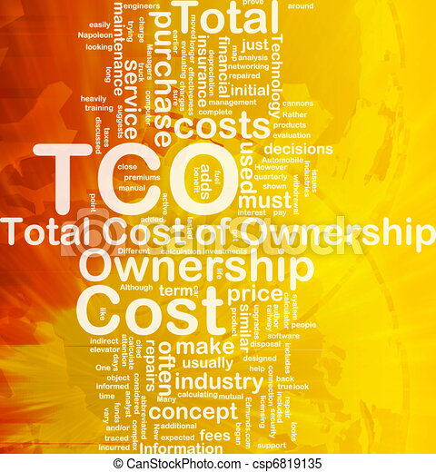 Total cost of ownership background concept - csp6819135