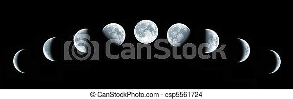 totale finsternis, lunar - csp5561724