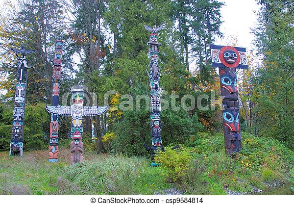 Totem poles - csp9584814