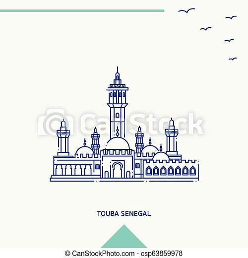 TOUBA SENEGAL skyline vector illustration