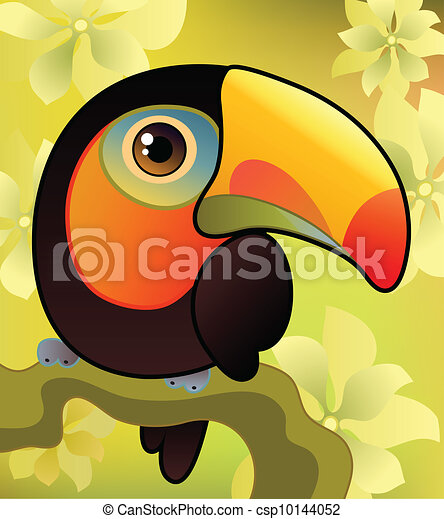 Toucan on the branch - csp10144052