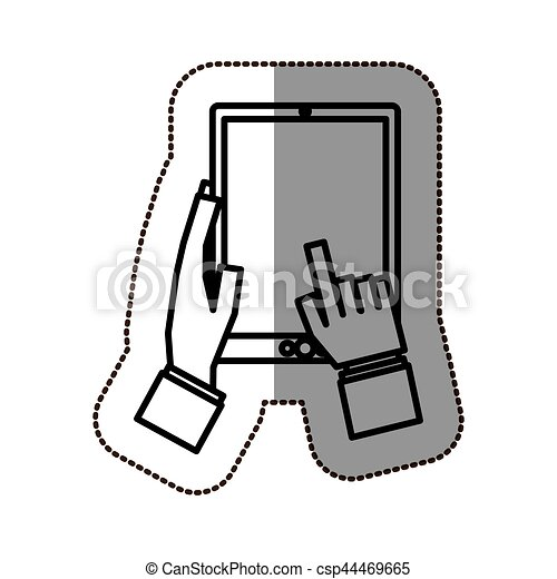touch screen technology icon vector illustration graphic clip art rh canstockphoto co uk technology clipart for powerpoint clip art technology icons