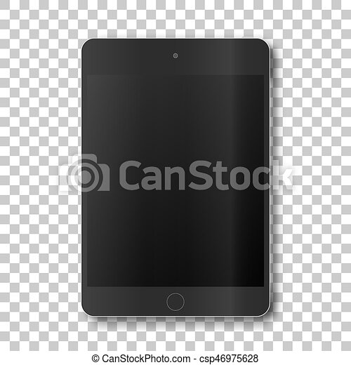 touch tablet on transparent background template framework insert